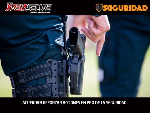 ACUERDAN REFORZAR ACCIONES EN PRO DE LA SEGURIDAD
