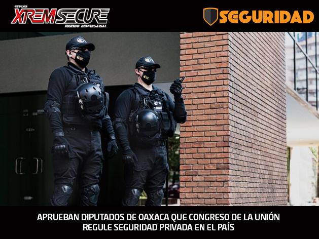 APRUEBAN DIPUTADOS DE OAXACA QUE CONGRESO DE LA UNIÓN REGULE SEGURIDAD PRIVADA EN EL PAÍS