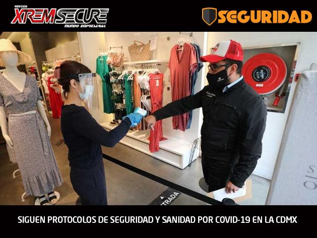 SIGUEN PROTOCOLOS DE SEGURIDAD Y SANIDAD POR COVID-19 EN LA CDMX