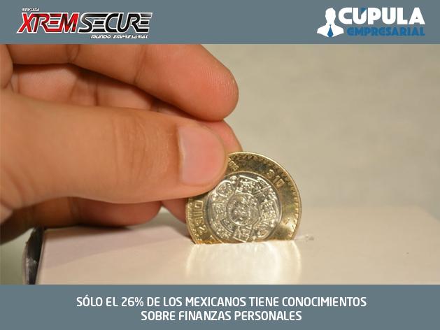 SÓLO EL 26% DE LOS MEXICANOS TIENE CONOCIMIENTOS SOBRE FINANZAS PERSONALES