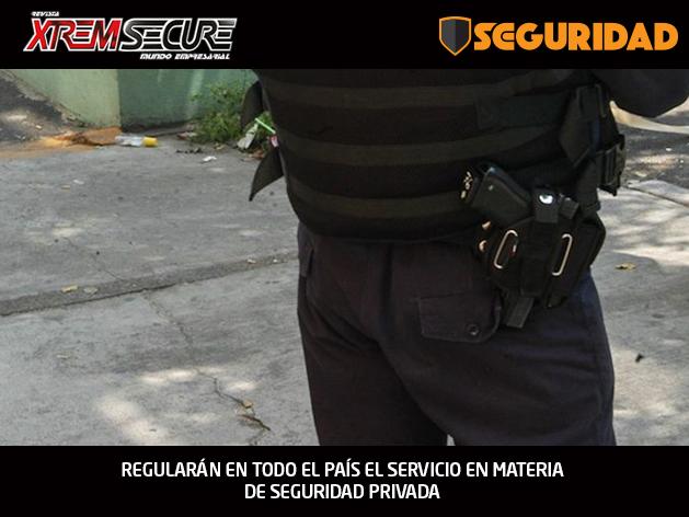REGULARÁN EN TODO EL PAÍS EL SERVICIO EN MATERIA DE SEGURIDAD PRIVADA