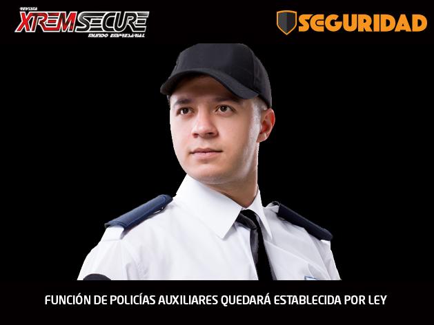 FUNCIÓN DE POLICÍAS AUXILIARES QUEDARÁ ESTABLECIDA POR LEY
